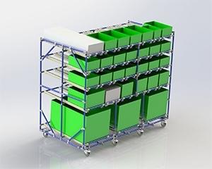 PEK3 Easytube Application Durchlaufregal 300x240