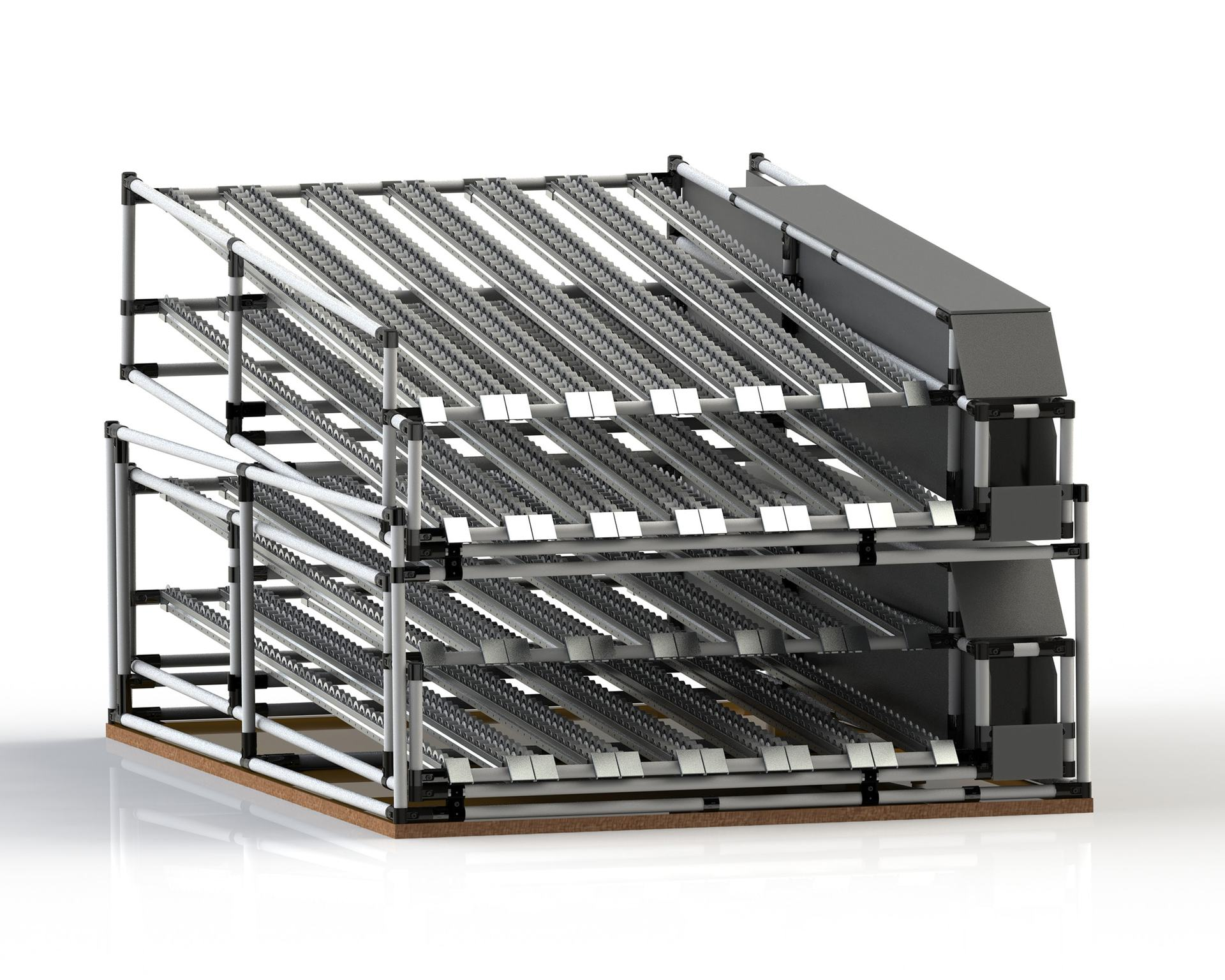 PEK3 Easytube Application Flow Rack Grey