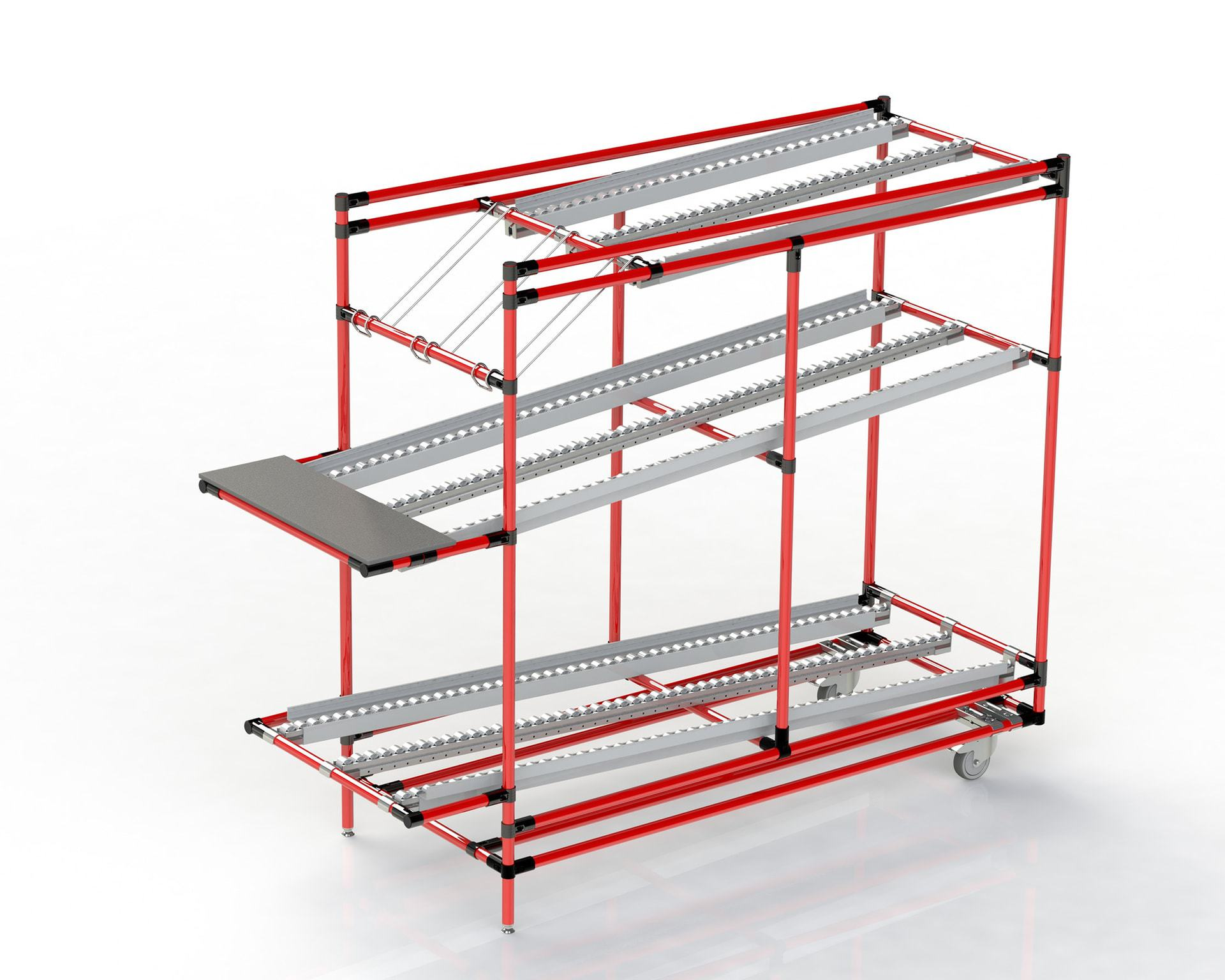 PEK3 Easytube Application Flow Rack Red