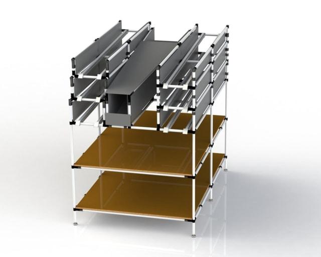 PEK3 Easytube Application Tower Rack