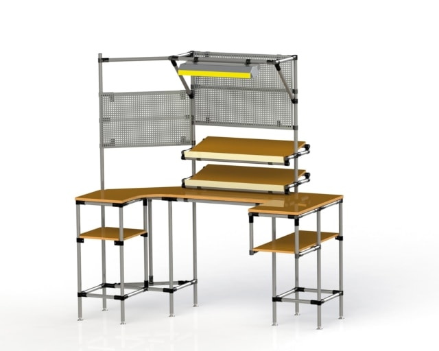 PEK3 Easytube Application Working Station with Perforated Steel Plate