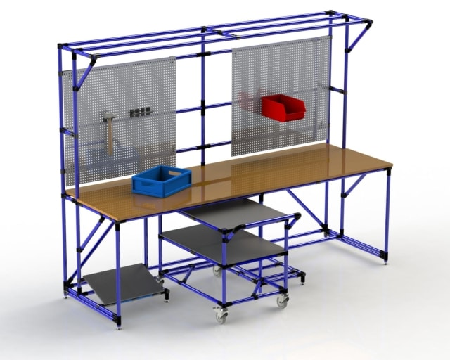 PEK3 Easytube Application Working Station with Trolley