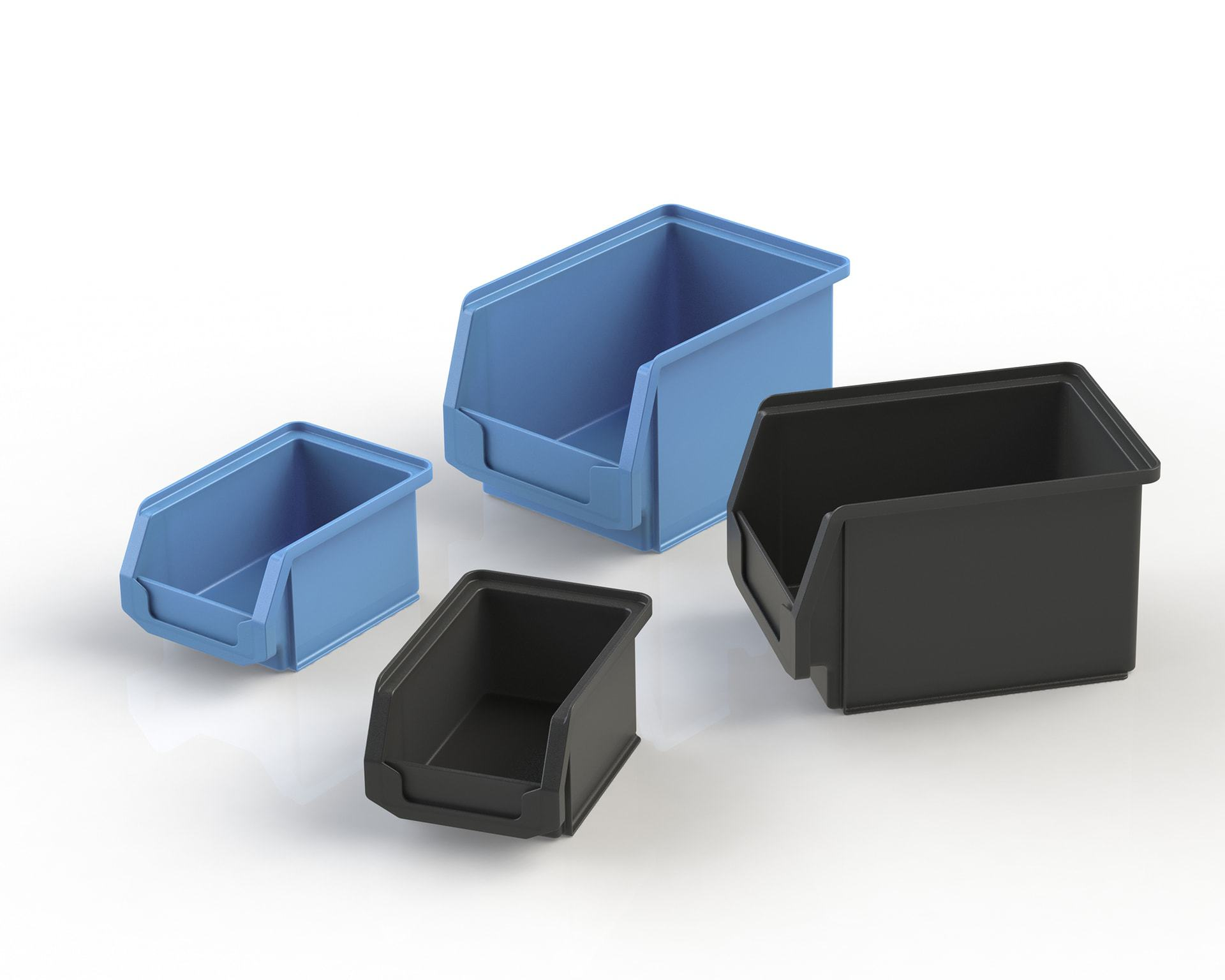 PEK3 Easytube Plastic Accessories Open Fronted Storage Boxes