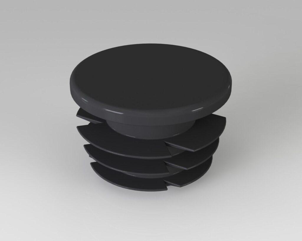 PEK3 Easytube caps and bushings nuts CAP 01 BK